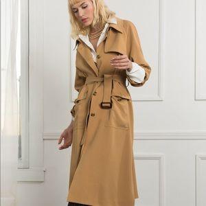 Jackets & Blazers - J.ING Camel Trench Coat   NWT